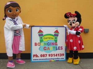 Doc Mcstuffins & Minnie Mouse mascots for Hire Connemara
