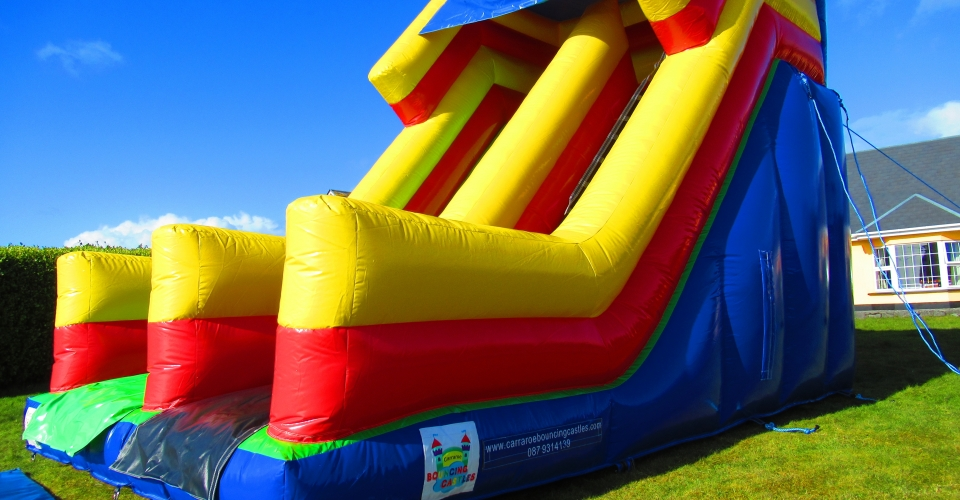 super slide bouncy castle for hire galway city and connemara super slide
