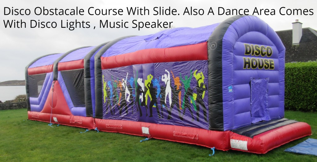 DISCO HOUSE OBSTACALE COURSE BOUNCING CASTLES
