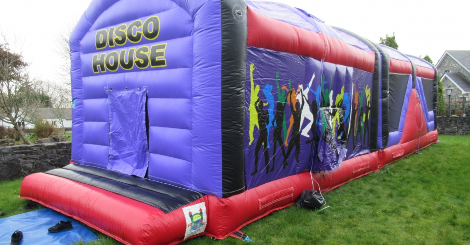 DISCO HOUSE OBSTACALE COURSE BOUNCY CASTLE