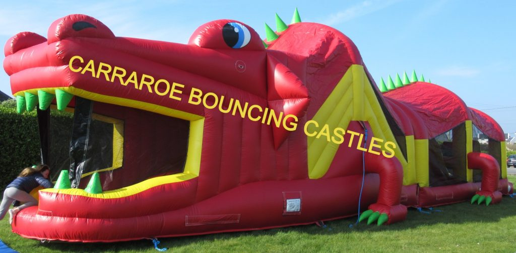 RED CROCODILE BOUNCING CASTLE