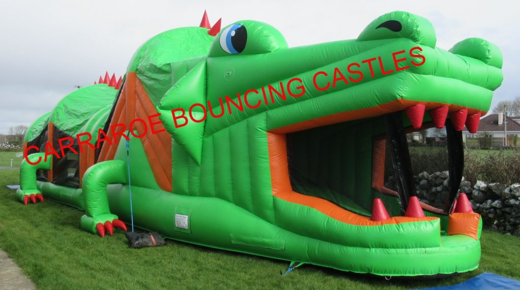 GREEN CROCODILE 5O FT BOUNCING CASTLES FOR HIRE IN GALWAY AND CONNEMARA