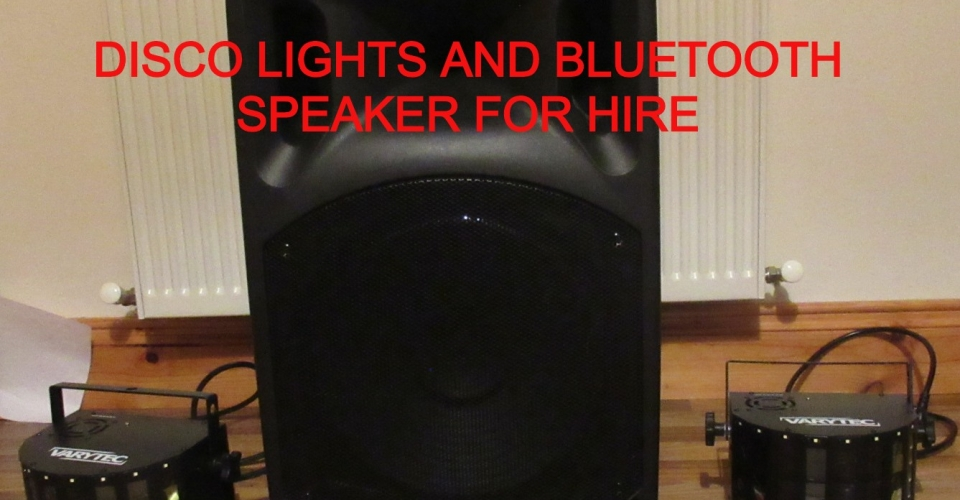 DISCO BLUETOOTH SPEAKER AND DISCO LIGHTS FOR HIRE